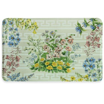 Summer Bouquet Memory Foam Slice Kitchen Mat Rug Size: 111 x 3