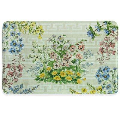 Summer Bouquet Memory Foam Slice Kitchen Mat Mat Size: 1'11