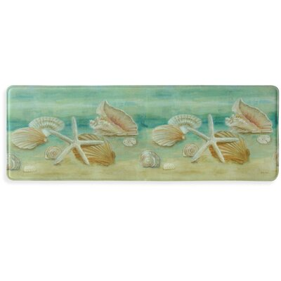 Horizon Shells Memory Foam Slice Kitchen Mat Mat Size: 18 x 47