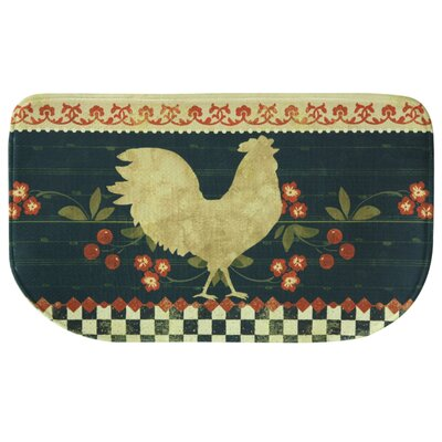 Retro Rooster Memory Foam Kitchen Mat