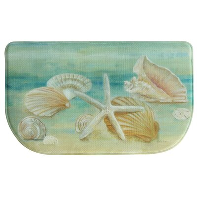 Horizon Shells Memory Foam Slice Kitchen Mat Rug Size: 16 x 26