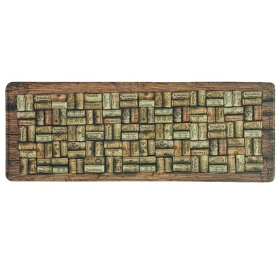Wine Corks Memory Foam Kitchen Mat