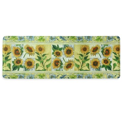 Sun Worshippers Memory Foam Slice Kitchen Mat Rug Size: 18 x 47
