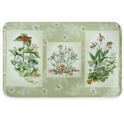 Three Bouquet Memory Foam Kitchen Mat Mat Size: 1'11
