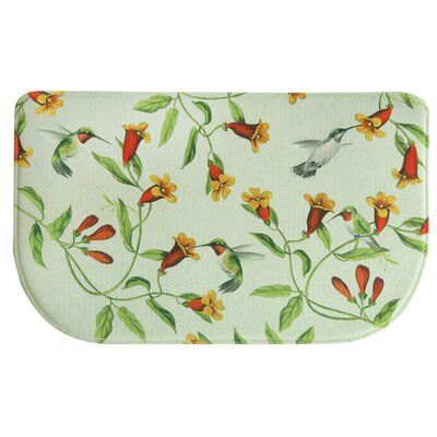 Hummingbirds and Trumpets Memory Foam Kitchen Mat Mat Size: 1'6