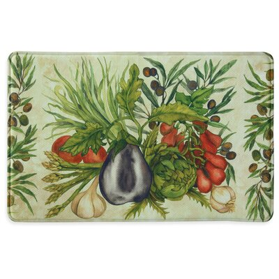 Trattoria Memory Slice Kitchen Mat Rug Size: 111 x 3