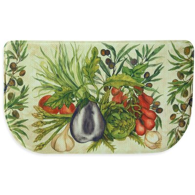 Trattoria Memory Slice Kitchen Mat Mat Size: 16 x 26