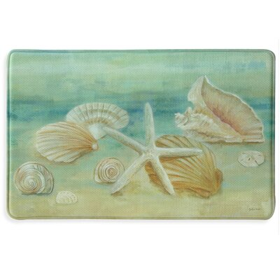 Horizon Shells Memory Foam Slice Kitchen Mat Mat Size: 111 x 3