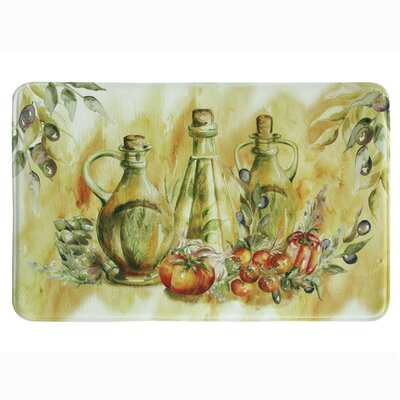 Olive Oil Memory Foam Kitchen Mat Mat Size: 111 x 3