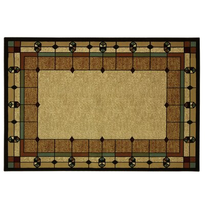 Traditions Windows Beige Area Rug Rug Size: 77 x 96