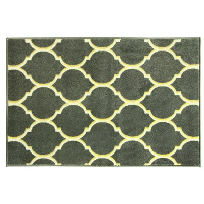 Uncarved Chromajet Gray Area Rug Rug Size: 18 x 29