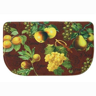 Botanical Fruit Memory Foam Kitchen Mat Mat Size: Slice (26 x 16), Color: Red