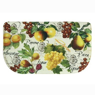 Botanical Fruit Memory Foam Kitchen Mat Rug Size: Rectangle 18 x 47, Color: Red