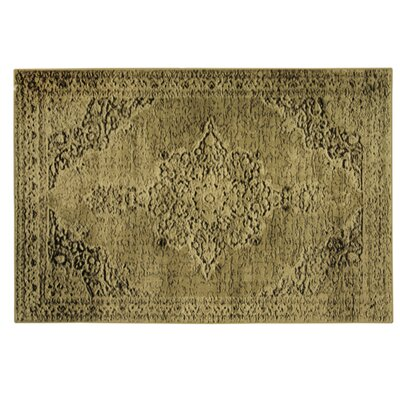 Traditions Cala Yellow Area Rug Rug Size: 77 x 96