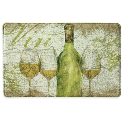 Vino Memory Foam Slice Kitchen Mat Color: Green, Rug Size: 15 x 26