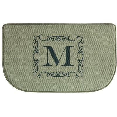 Burlap Letter Memory Foam Kitchen Mat Letter: M