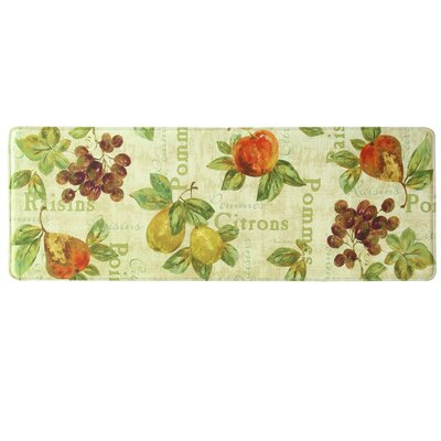Rustic Fruit II Memory Foam Kitchen Mat Rug Size: 18 x 47