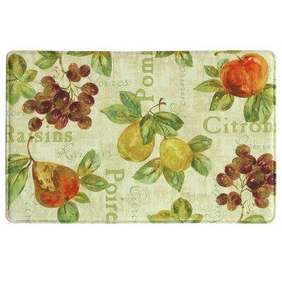 Rustic Fruit II Memory Foam Kitchen Mat Rug Size: 111 x 3
