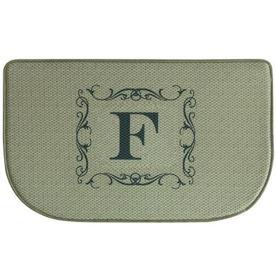 Burlap Letter Memory Foam Kitchen Mat Letter: F