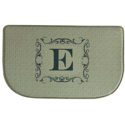 Burlap Letter Memory Foam Kitchen Mat Letter: E