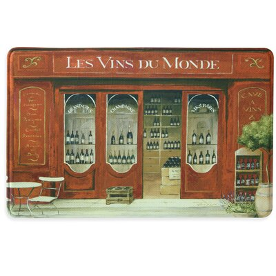 Les Vins du Monde Memory Foam Kitchen Mat Color: Red