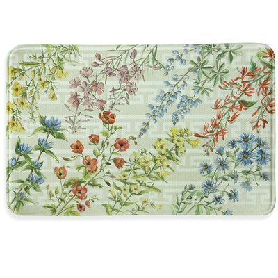Summer Flowers Memory Foam Kitchen Mat Rug Size: 111 x 3