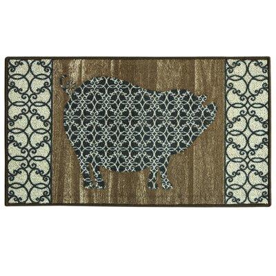 Classic Berber Barnwood Pig Mat