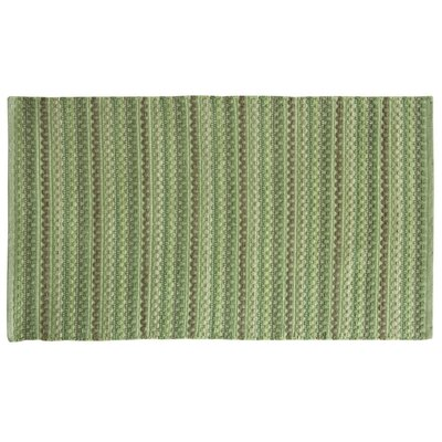 Brenden Hand-Woven Green Area Rug Rug Size: 2 x 4