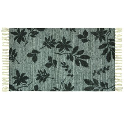 Melilla Hickory Tossed Hand-Woven Green Area Rug Rug Size: 18 x 29
