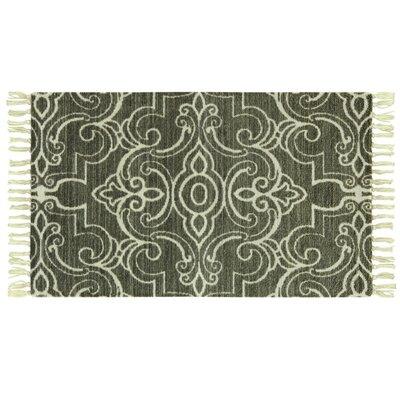 Melilla Lock Hand-Woven Green Area Rug Rug Size: 18 x 29