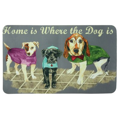 Floor Gallery Home Dog Door Mat Color: Gray