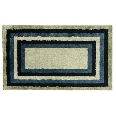 Cashlon Concentric Tones Blue/Gray Area Rug Rug Size: 24 x 42