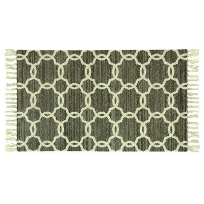 Melilla Stockton Hand-Woven Green Area Rug Rug Size: 18 x 29