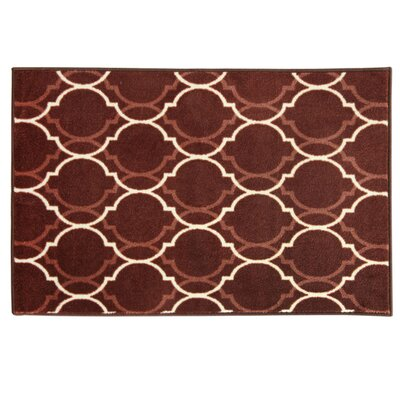 Cambridge Quatrefoil Tonal Red Area Rug Rug Size: 18 x 29