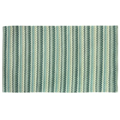 Brenden Hand-Woven Blue Area Rug Rug Size: 19 x 210