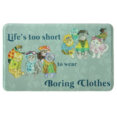 Standsoft Memory Foam Boring Clothes Cat Celadon Mat
