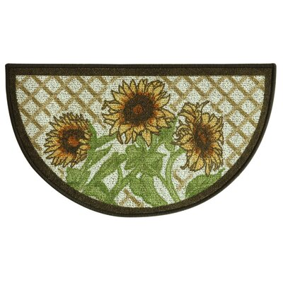 Classic Berber Slice Sunflower Friends Mat