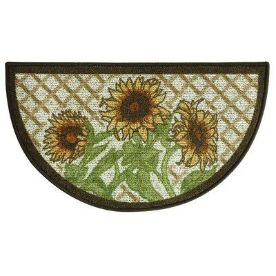 Classic Berber Slice Sunflower Friends Mat