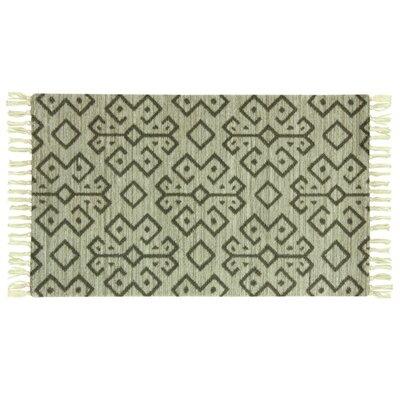 Melilla Andorra Hand-Woven Green Area Rug Rug Size: 28 x 310