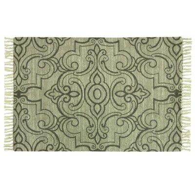 Melilla Hand-Woven Green Area Rug Rug Size: 28 x 310