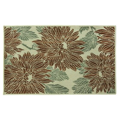 Marbella Blooms Copper/Ivory Area Rug Rug Size: 1'8