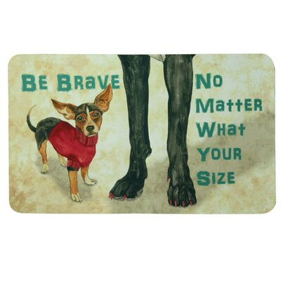 Floor Gallery Be Brave Door Mat