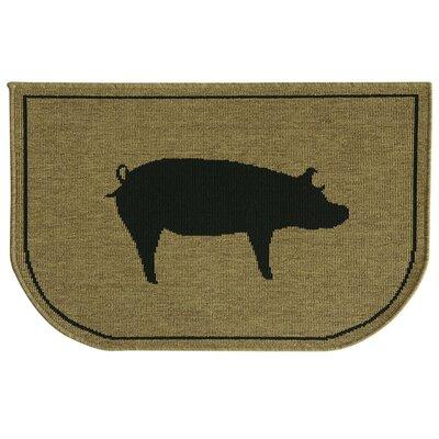Relince Slice Pig Burlap Mat