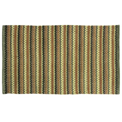Brenden Hand-Woven Green Area Rug Rug Size: 19 x 210