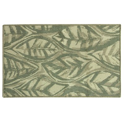 Relince Leaf Sketch Green Area Rug