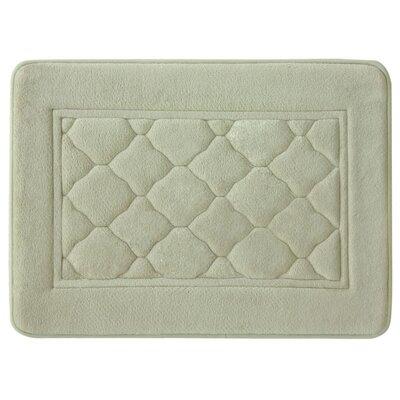 Microban Florence Memory Foam Bath Rug Size: 17 W x 24 L, Color: Linen