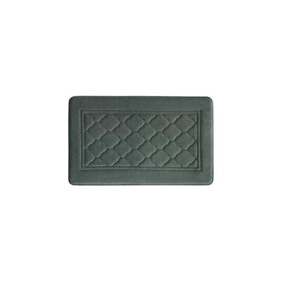 Microban Florence Memory Foam Bath Rug Size: 20 W x 32 L, Color: Gray