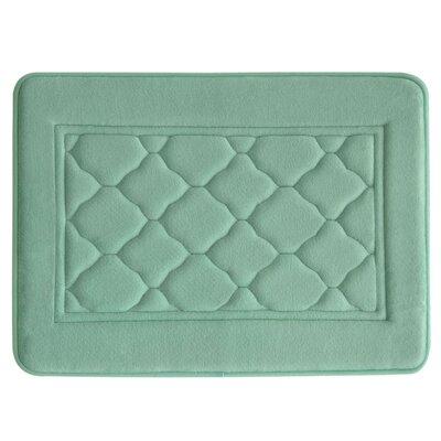 Microban Florence Memory Foam Bath Rug Size: 17 W x 24 L, Color: Aqua