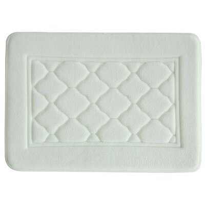 Microban Florence Memory Foam Bath Rug Size: 17 W x 24 L, Color: White