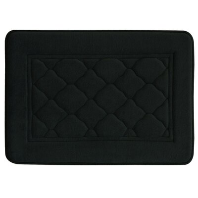 Microban Florence Memory Foam Bath Rug Size: 17 W x 24 L, Color: Black